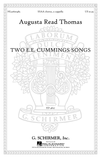 Product Cover for Two E.E. Cummings Songs