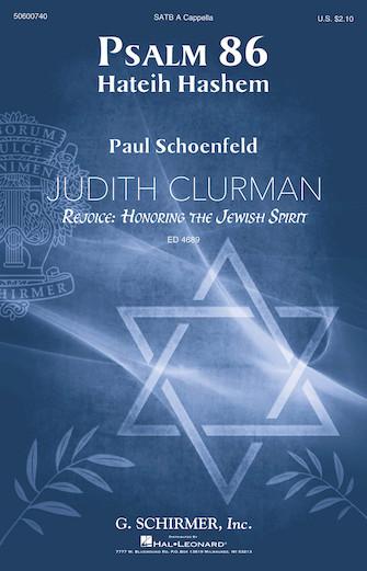 Psalm 86 : SATB divisi : Judith Clurman : Dale Warland Singers : Sheet Music : 50600740 : 888680650643 : 1495077918