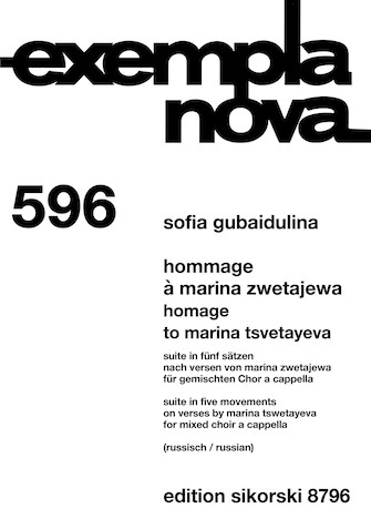 Product Cover for Hommage a Marina Zwetajewa
