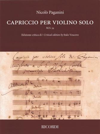 Product Cover for Capriccio for Violin Solo