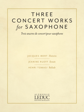 Product Cover for Three Concert Works for Saxophone