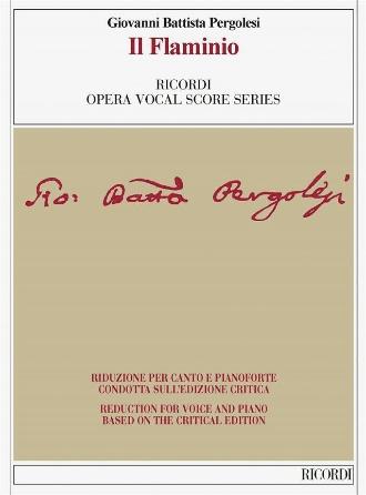 Pergolesi Il Flaminio Vocal Score