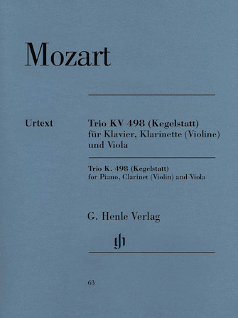 Product Cover for Trio in E-flat Major K. 498 (Kegelstatt)