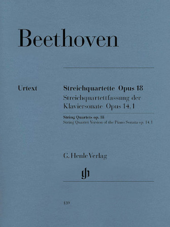Product Cover for String Quartets Op. 18 and String Quartet Version of the Piano Sonata Op. 14