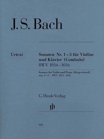 Product Cover for Sonatas for Violin and Piano (Harpsichord) 1-3 BWV 1014-1016