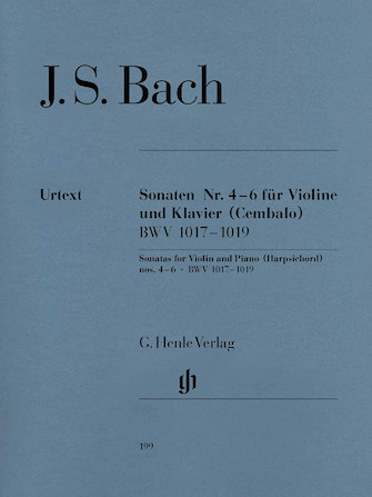 Product Cover for Sonatas for Violin and Piano (Harpsichord) 4-6 BWV 1017-1019