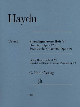 Product Cover for String Quartets, Vol. VI, Op.42 and Op.50 (Prussian Quartets)