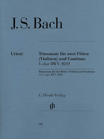 Product Cover for Trio Sonata for Two Flutes and Continuo in G Major, BWV 1039