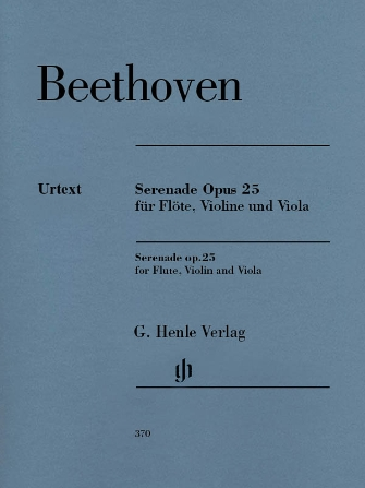 Product Cover for Serenade in D Major Op. 25 for Flute, Violin and Viola – Revised Edition