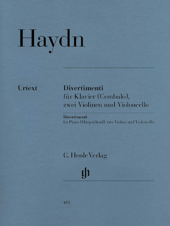 Product Cover for Divertimenti for Piano (Cembalo) with 2 Violins and Violoncello