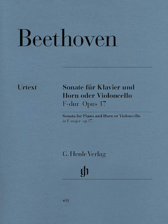 Product Cover for Sonata in F Major for Piano and Horn (or Violoncello) Op. 17