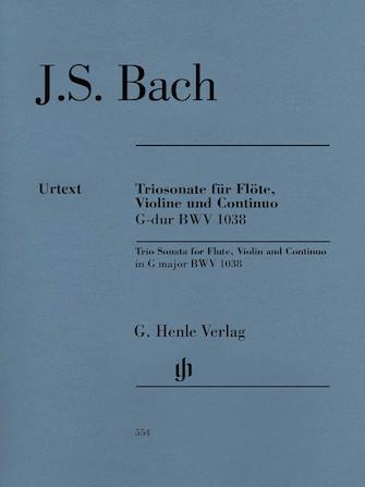 Product Cover for Trio Sonata for Flute, Violin and Continuo BWV 1038