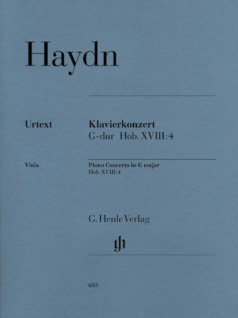 Product Cover for Concerto for Piano (Harpsichord) and Orchestra G Major Hob.XVIII:4