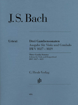 Product Cover for Sonatas for Viola da Gamba and Harpsichord BWV 1027-1029