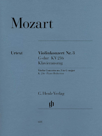 Product Cover for Violin Concerto No. 3 in G Major K216