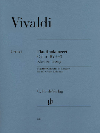 Product Cover for Concerto for Flautino (Recorder/Flute) and Orchestra in C Major, Op. 44, 11 RV 443