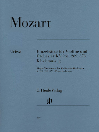 Product Cover for Single Movements for Violin and Orchestra K261, 269 and 373