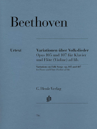 Product Cover for Variations on Folk Songs, Op. 105 and 107