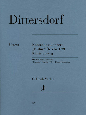 Product Cover for Double Bass Concerto E Major Krebs 172