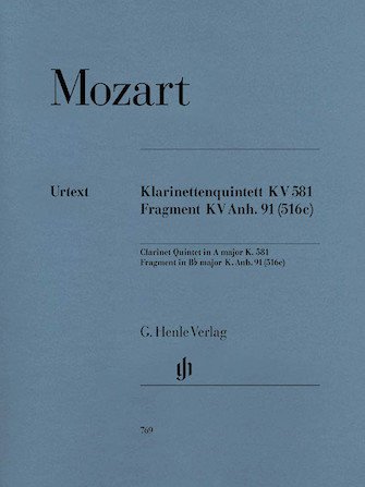 Product Cover for Clarinet Quintet A Major K581 and Fragment K.Anh. 91 (516c)