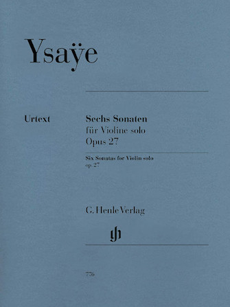 Product Cover for 6 Sonatas for Violin Solo Op. 27