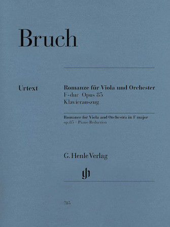 Product Cover for Romance for Viola and Orchestra in F Major Op. 85