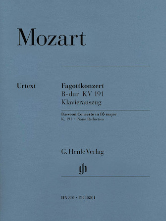 Product Cover for Bassoon Concerto in B-flat Major, K. 191