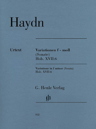 Product Cover for Variations in F minor (Sonata), Hob.XVII:6