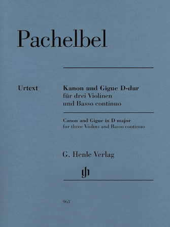 Product Cover for Canon and Gigue for Three Violins and Basso Continuo in D Major
