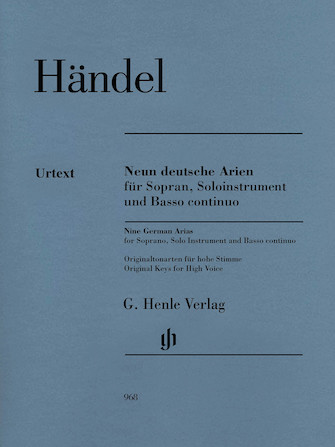 Product Cover for 9 German Arias for Soprano, Solo Instrument and Basso Continuo