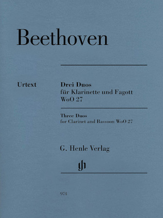 Product Cover for 3 Duos for Clarinet and Bassoon WoO 27