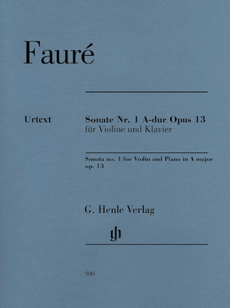 Product Cover for Sonata No. 1 in A Major, Op. 13 for Violin and Piano
