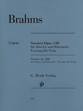 Product Cover for Clarinet Sonata (or Viola) Op. 120 Nos. 1-2