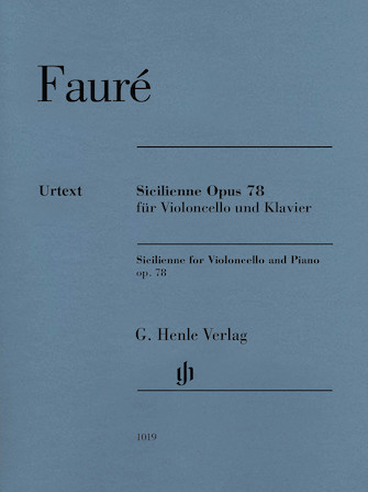 Product Cover for Sicilienne for Violoncello and Piano, Op. 78