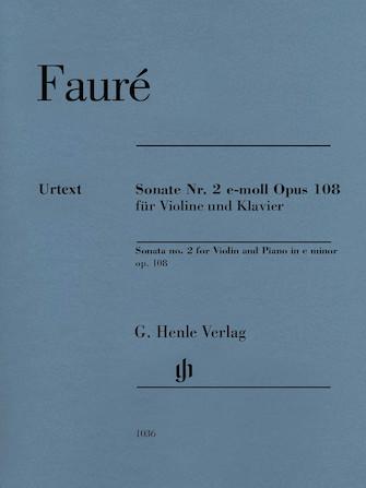 Product Cover for Violin Sonata No. 2 in E minor, Op. 108