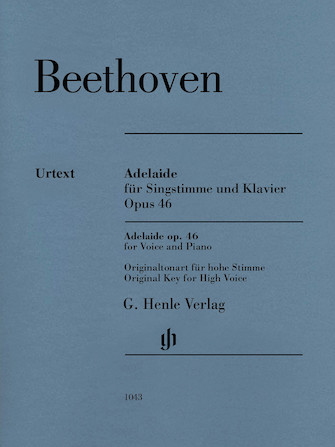 Product Cover for Adelaide, Op. 46