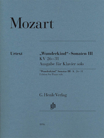 """Product Cover for Wolfgang Amadeus Mozart – """"Wunderkind"""" Sonatas, Volume 3, K. 26-31"""