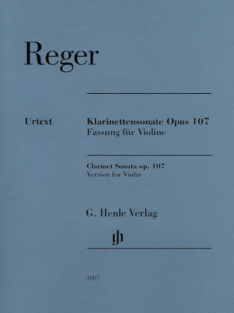 Product Cover for Max Reger – Clarinet Sonata, Op. 107