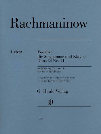 Product Cover for Vocalise Op. 34 No. 14