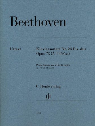 Product Cover for Piano Sonata No. 24 in F-sharp Major, Op. 78 (À Thérèse)