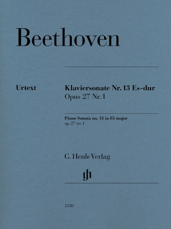 Product Cover for Piano Sonata No. 13 E-flat Major, Op. 27, No. 1