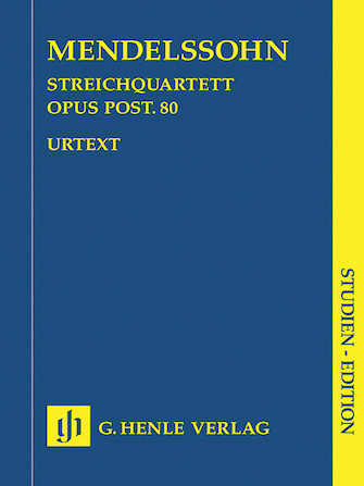 Product Cover for String Quartet F Minor Op. Posth. 80