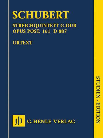 Product Cover for String Quartet in G Major, Op. post. 161 D 887 (Streichquartett G-Dur)