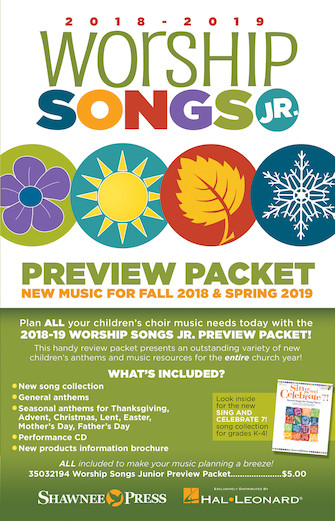 2018-2019 Worship Songs Junior Preview Packet